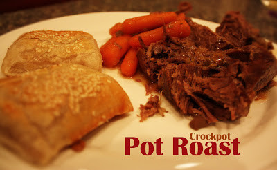 Crockpot Pot Roast and Cinnamon Swirl Cake
