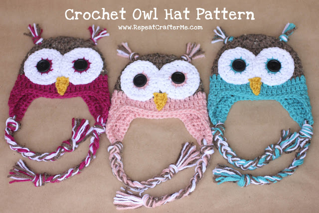 Crochet Owl Hat Pattern Repeat Crafter Me Extraordinary Free Owl Hat Knitting Pattern