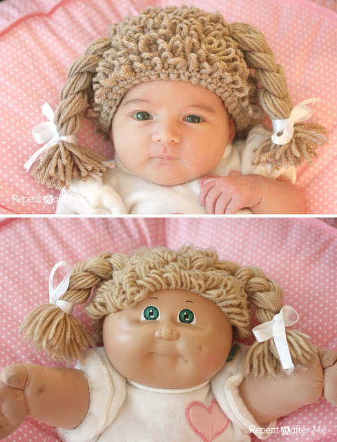 Crochet Cabbage Patch Doll Inspired Hat Repeat Crafter