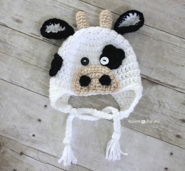 Crochet Cow Hat Pattern