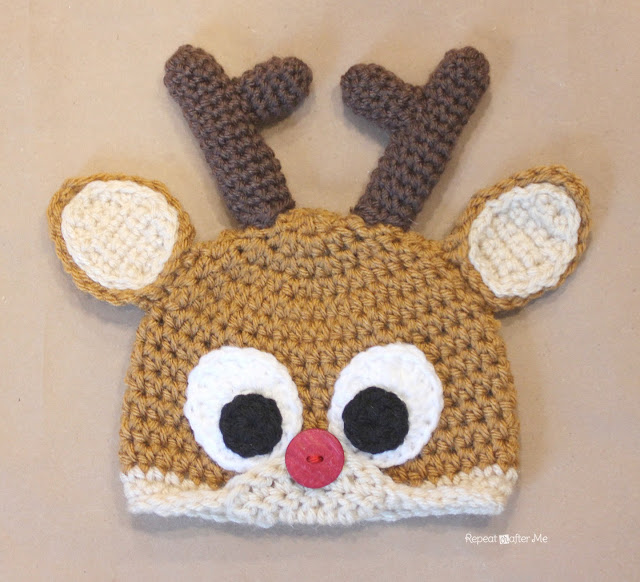 Crochet Reindeer Antlers Pattern Repeat Crafter Me