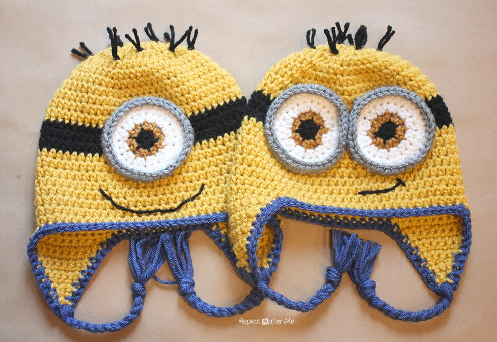 Crochet Me : Crochet Minion Hat Pattern - Repeat Crafter Me