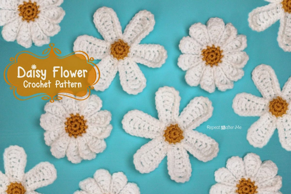 Daisy flower crochet pattern repeat crafter me izmirmasajfo