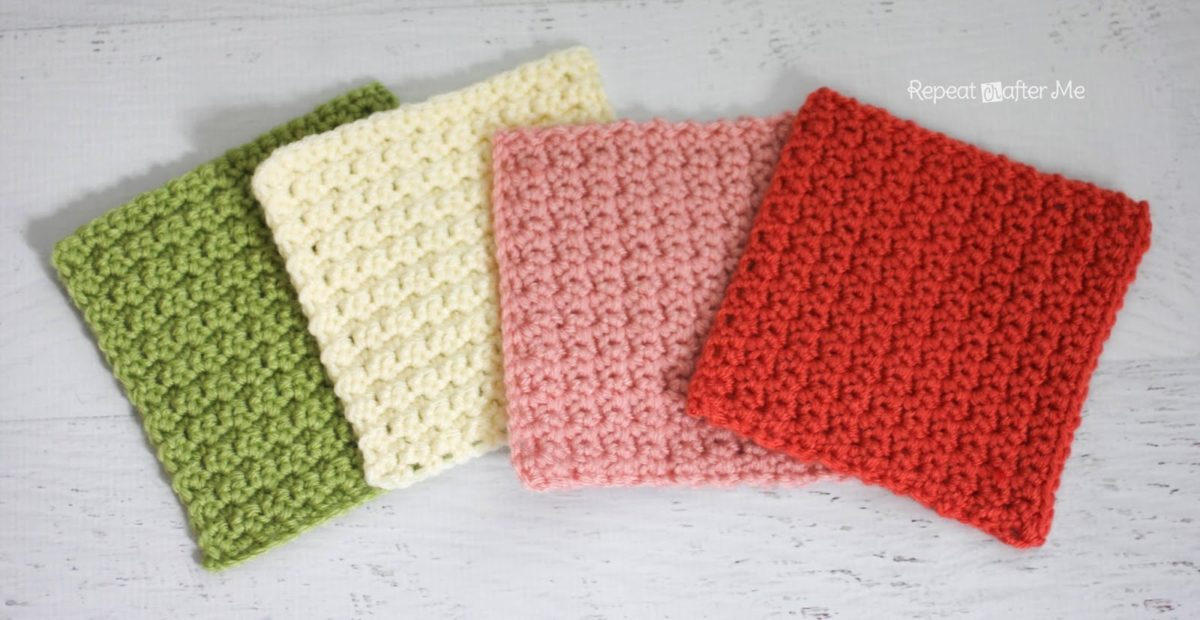 Crochet Patterns Squares : Solid Granny Square Crochet Pattern (Grit Stitch) - Repeat Crafter Me