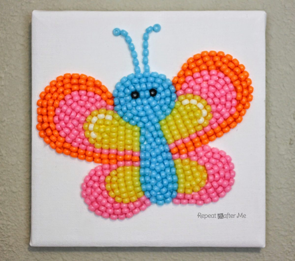 Kid Craft Beads: Pony Bead Butterfly