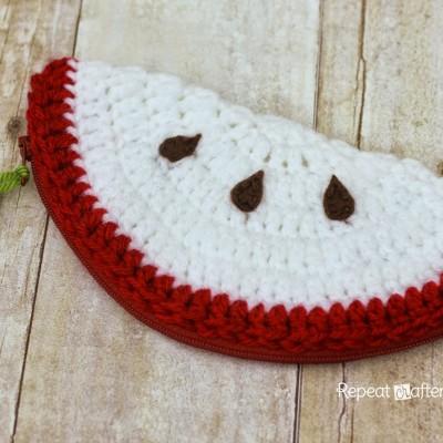 Crochet Apple Pouch Pattern