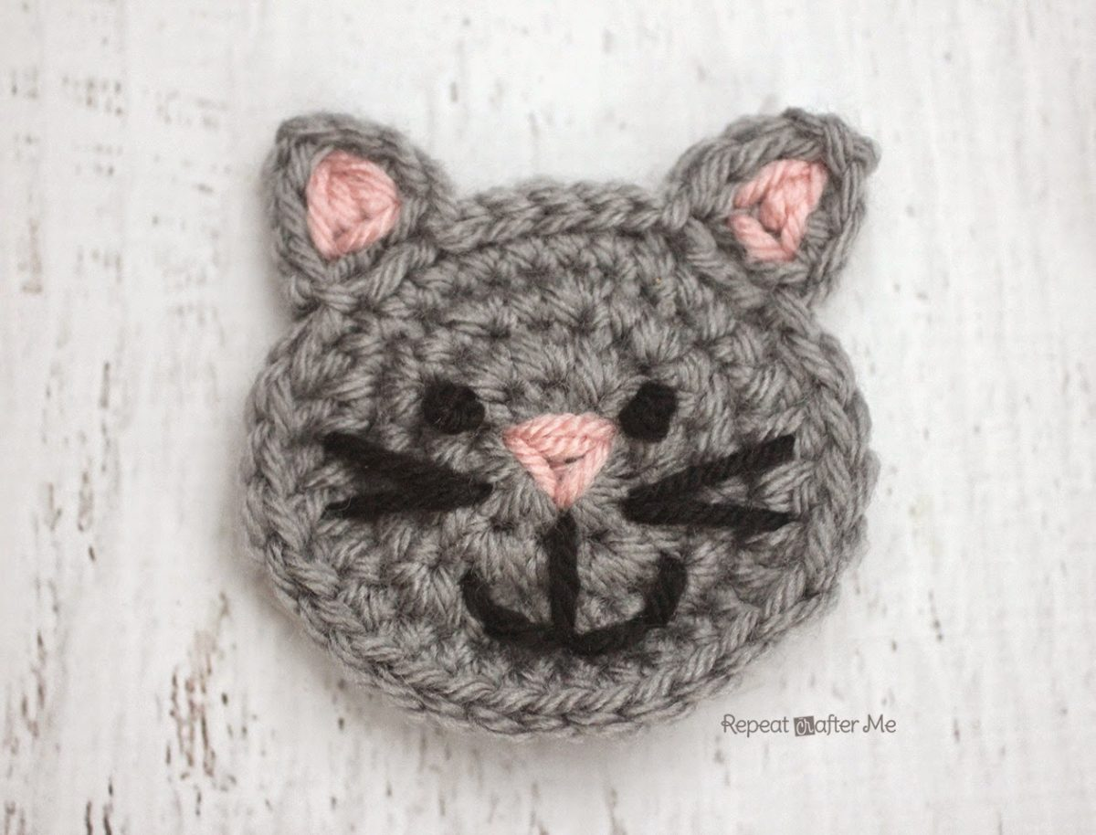 Crocheting For Cats : is for Cat: Crochet Cat Applique - Repeat Crafter Me