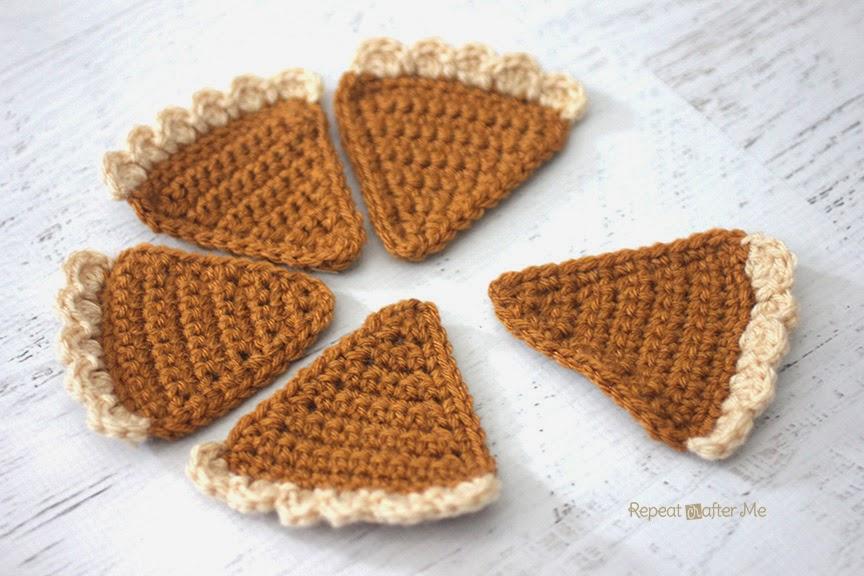Crochet Pumpkin Pie Bunting Repeat Crafter Me