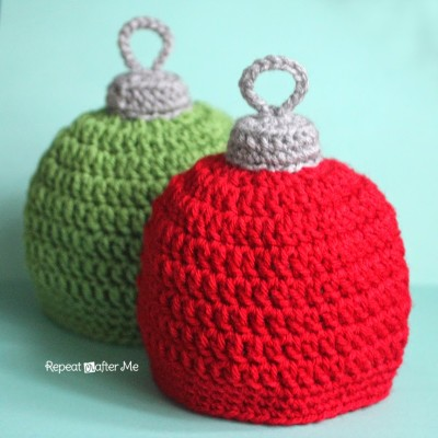 Crochet Christmas Ornament Hat Pattern