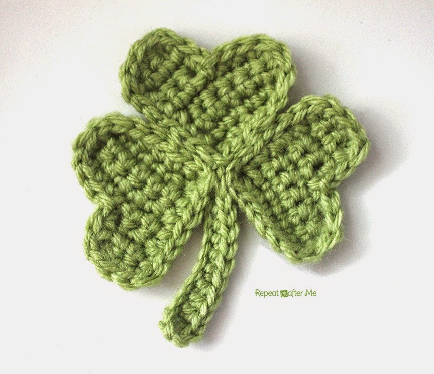 Crochet shamrock repeat crafter me