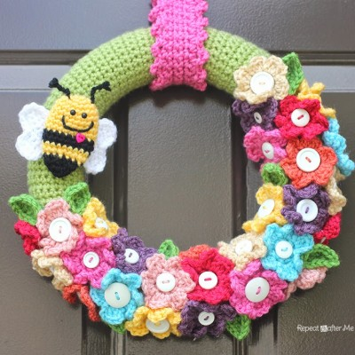 Crocheted Spring Wreath