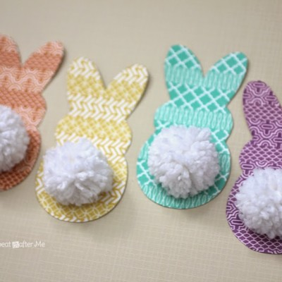 Washi Tape and Pom-Pom Bunny Tags