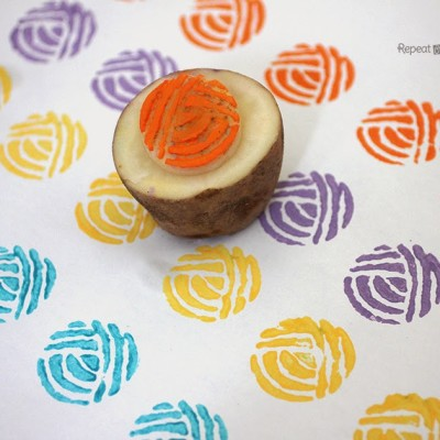 Yarn Ball Potato Stamp