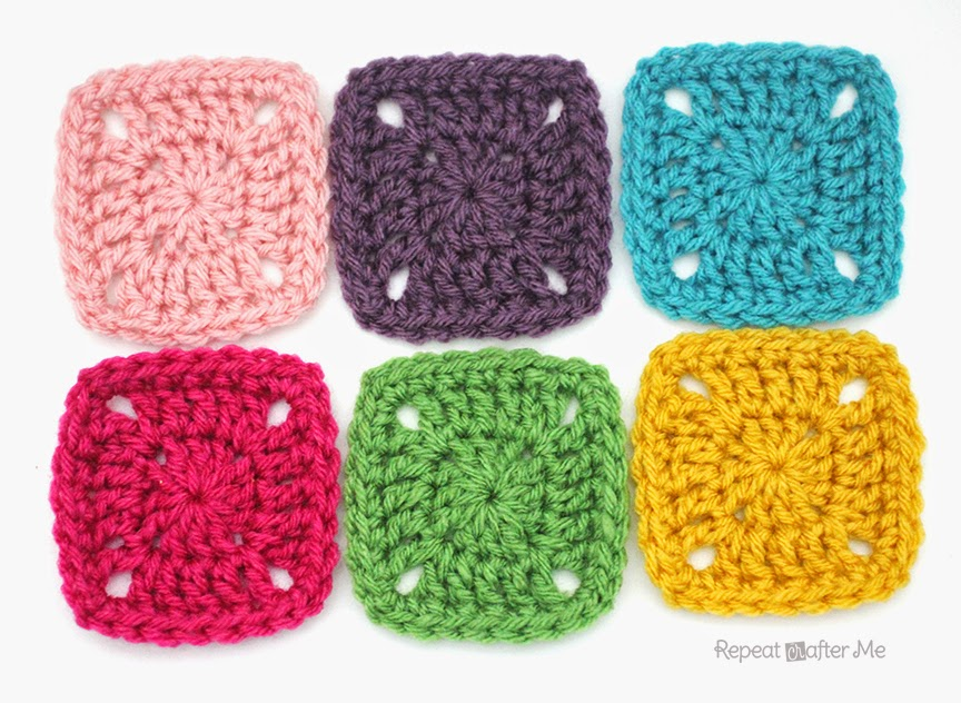 Crochet Patterns For Blankets Square Patterns : Pixel Crochet Squares - Repeat Crafter Me