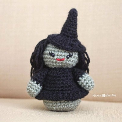 Weeble Wobble Crochet Witch