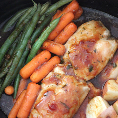 Crock Pot One Pot Chicken and Veggies