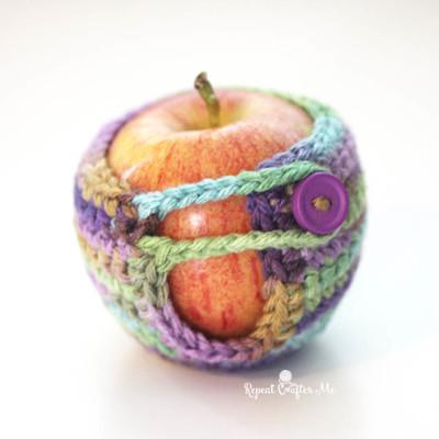 Crochet Apple Cozy