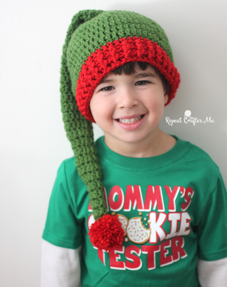 Free Crochet Pattern Long Elf Hat : Crochet Elf Hat Pattern - Repeat Crafter Me