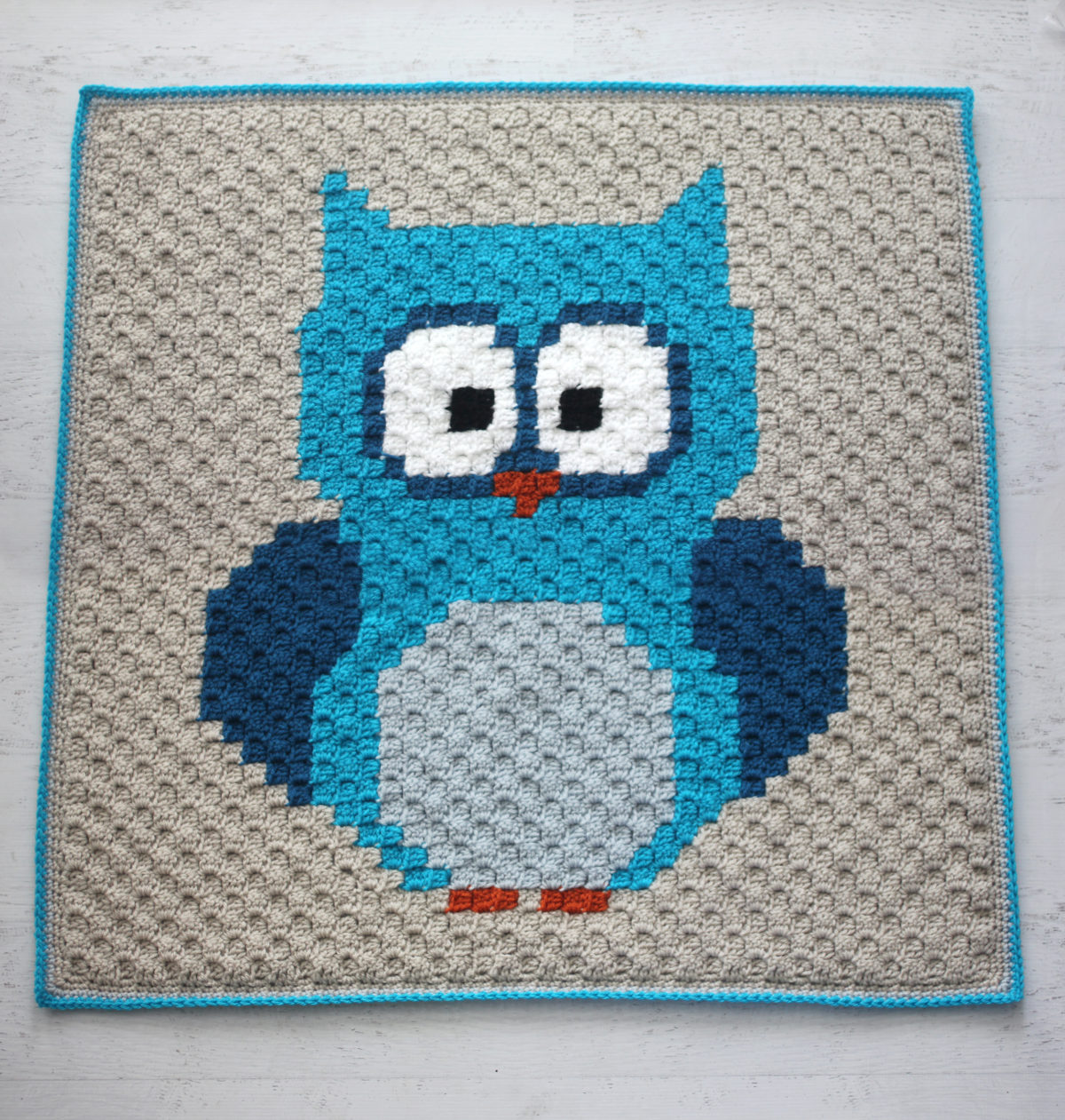 Crochet Owl C2C Baby Blanket with Lion Brand Yarn - Repeat ...