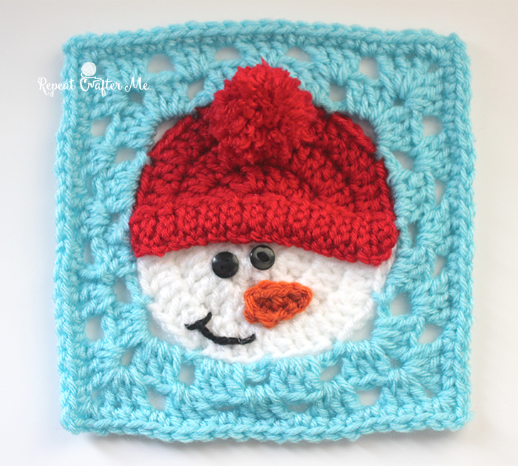 Crochet Snowman Square Repeat Crafter Me