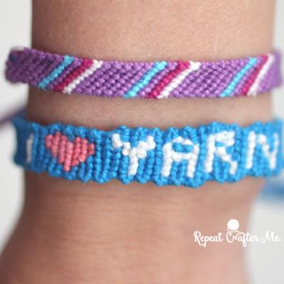 """""""I heart Yarn"""" Friendship Bracelet"""