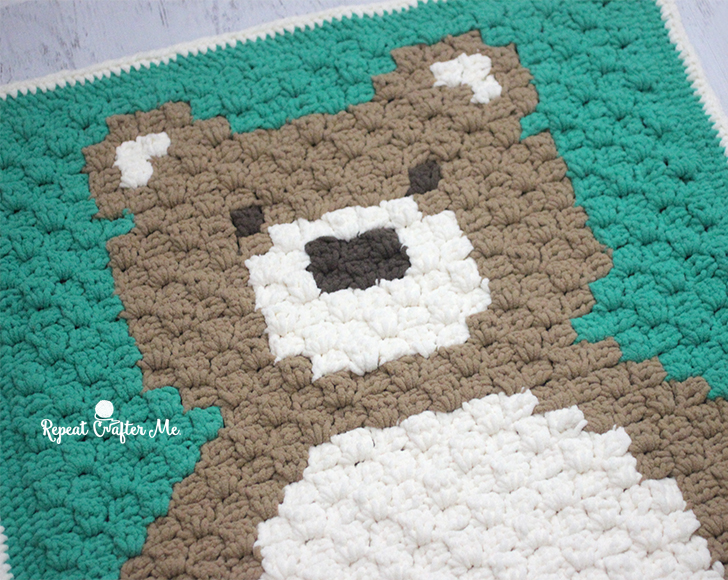 Crochet Stitches C2c : Crochet C2C Bernat Blanket Bear - Repeat Crafter Me
