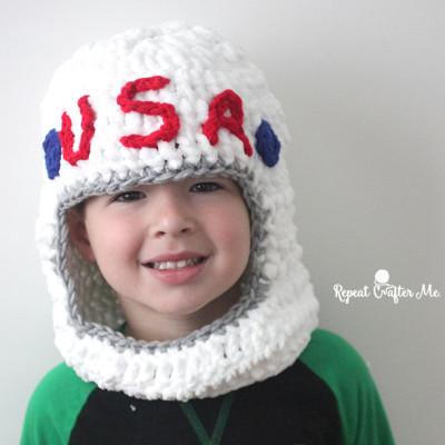 Crochet Astronaut Helmet
