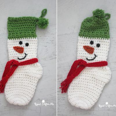 Crochet Snowman Christmas Stocking