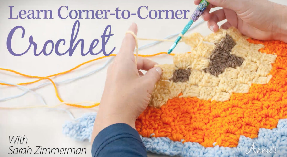 Crocheting Classes Online : Corner-to-Corner Crochet Class - Repeat Crafter Me