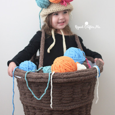 Yarn Basket Halloween Costume