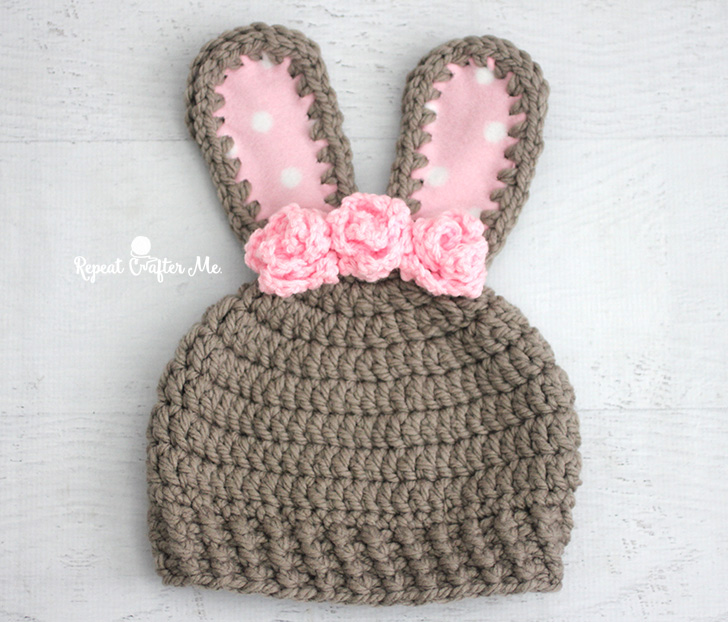 Chunky Bunny Crochet Hat Repeat Crafter Me