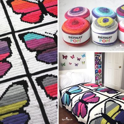 Bernat POP! Butterfly Crochet Graphgan – Part 2