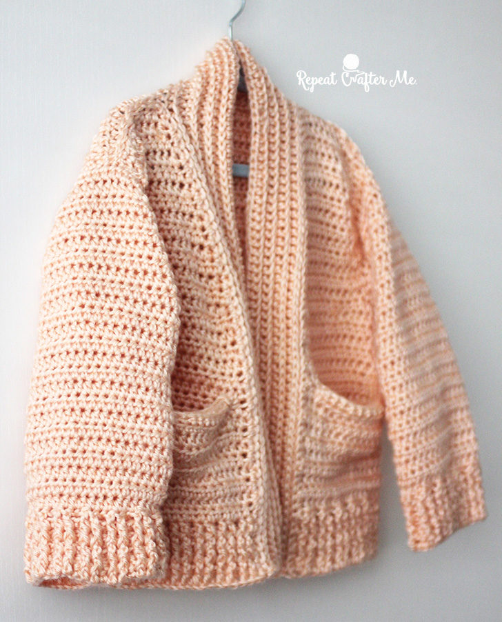6850e8556 Caron Crochet Chill Time Child s Cardigan from Yarnspirations ...
