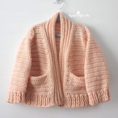 Caron Crochet Chill Time Child's Cardigan from Yarnspirations Stitchflix Season 2 Lookbook