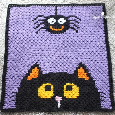 Crochet Halloween C2C Blanket