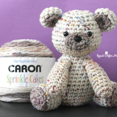 Caron Sprinkle Cakes Crochet Birthday Bear