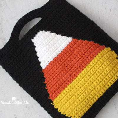 Crochet Candy Corn Trick or Treat Bag