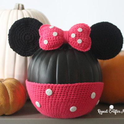 Minnie Mouse Crochet Pumpkin