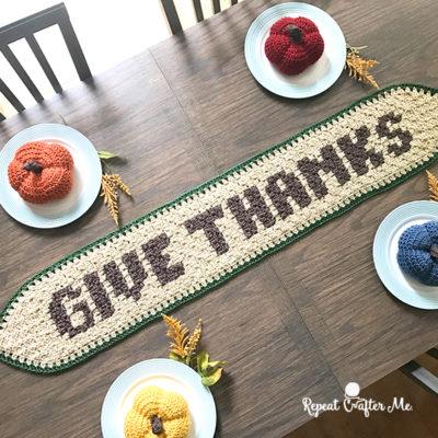 Crochet Thanksgiving Table Runner