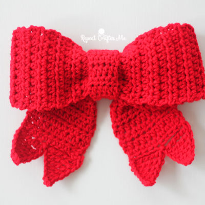 Crochet Big Red Bow