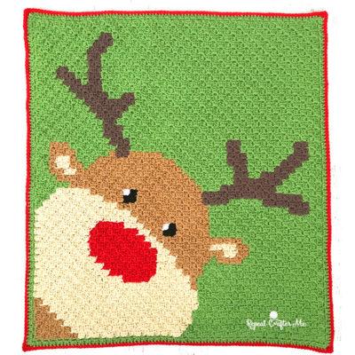 Crochet Rudolph C2C Blanket