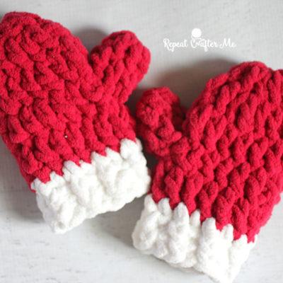 Bernat Blanket Crochet Mittens
