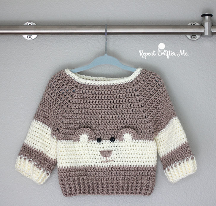 f84e6dbae Crochet Character Sweater and Yarnspirations Baby s Day Out Lookbook ...