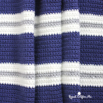 Crochet Bold Stripes Blanket