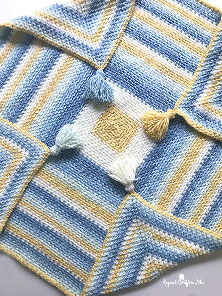 Moss Stitch In A Square Crochet Blanket Repeat Crafter Me