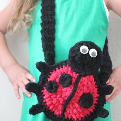 Bernat Ladybug Crochet Purse