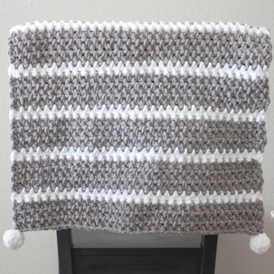 Quick and Easy Bernat Moss Stitch Baby Blanket