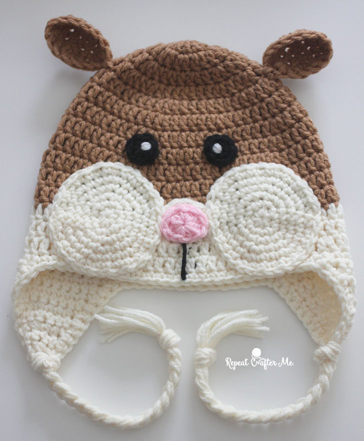 Crochet Hamster Hat Repeat Crafter Me