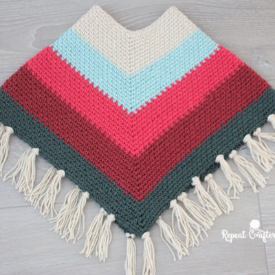 Crochet Kids Poncho with Caron X Pantone Yarn