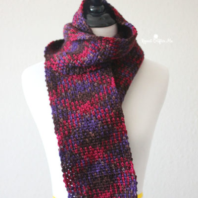 Patons Pooling Crochet Scarf